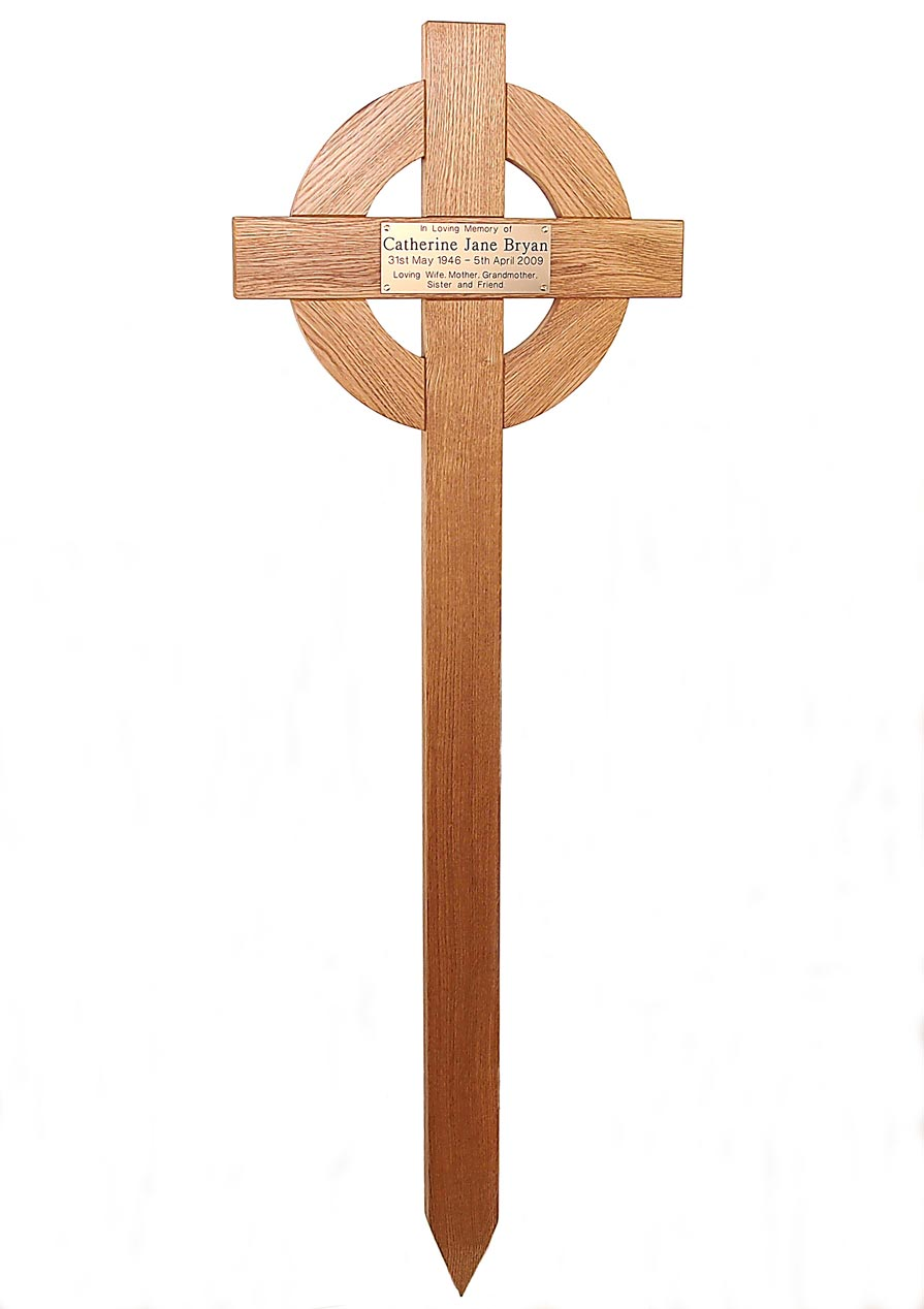 48 celtic cross with gold plaque simply crosses amp memorials